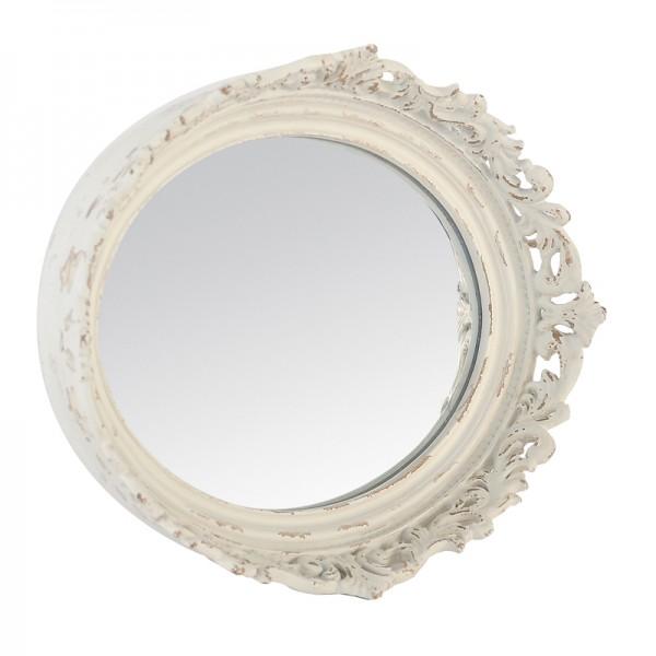 Miroir ancien blanc for Miroir baroque blanc