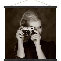 Toile Photographe, photo sur toile format kakémono noir