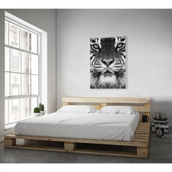 toile tigre noir blanc. Black Bedroom Furniture Sets. Home Design Ideas