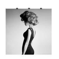 Photo sur toile femme, toile photo noir et blanc