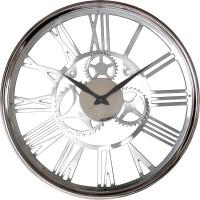 Horloge Chromé de taille moyenne.