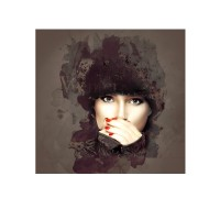 Toile déco, photo sur toile sur châssis représentant une femme en hiver