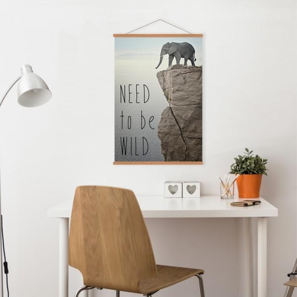 toile wild. Black Bedroom Furniture Sets. Home Design Ideas