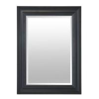Miroir noir Hollandais, petit miroir rectangulaire biseauté reprenant le style des peintures hollandaises.