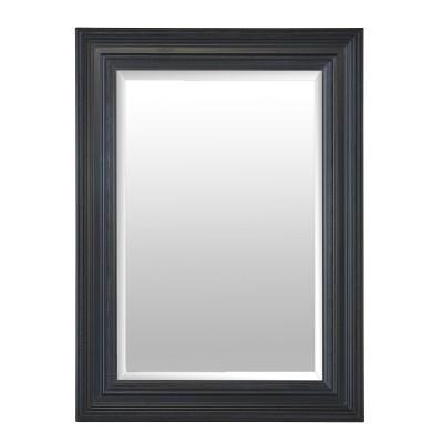 Miroir cadre noir for Miroir encadrement noir