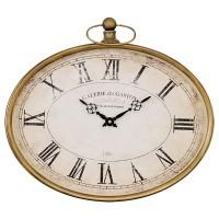 Petit horloge jaune ressemblant à une montre à gousset.