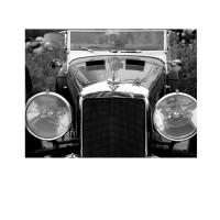 Photo sur toile sur châssis d'une voiture Alvis en noir et blanc
