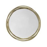 Miroir doré entrelacé 44X8X44CM