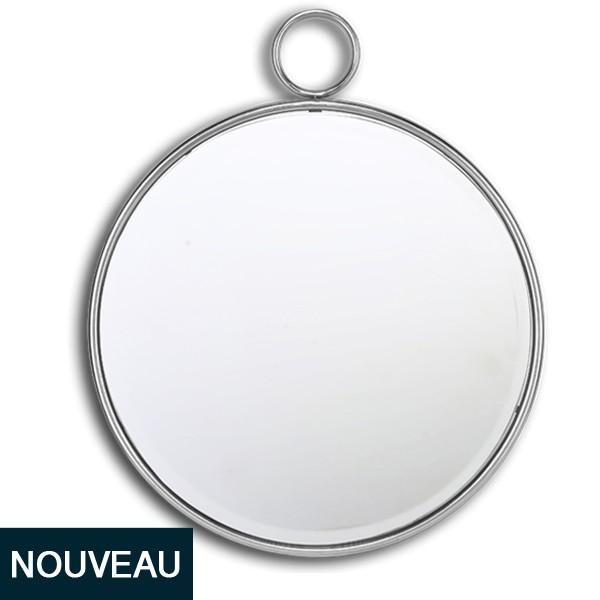 Miroir rond metal gallery of miroir rond noir petit for Miroir bombe rond