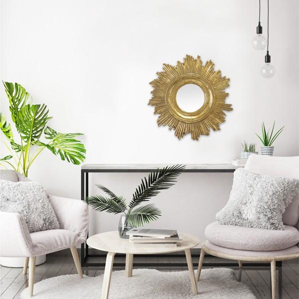 miroir soleil dor. Black Bedroom Furniture Sets. Home Design Ideas