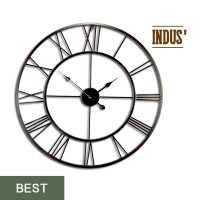 Horloge Métal Noir INDUS