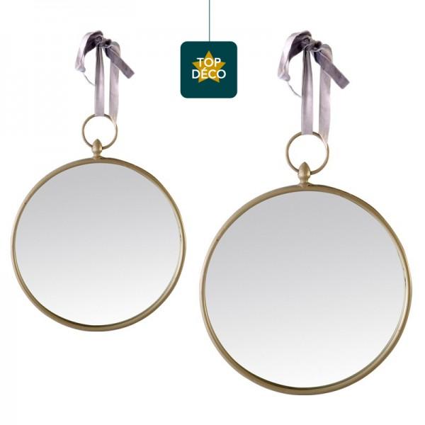 miroir rond gris suspendre. Black Bedroom Furniture Sets. Home Design Ideas