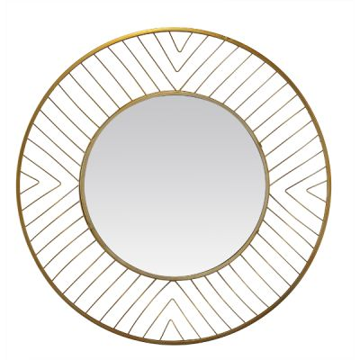 miroir rond filaire dor 80x80 cm. Black Bedroom Furniture Sets. Home Design Ideas