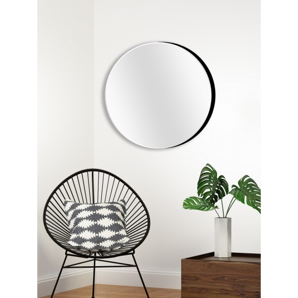 miroir rond design glace unique ronde pur e 80 cm. Black Bedroom Furniture Sets. Home Design Ideas