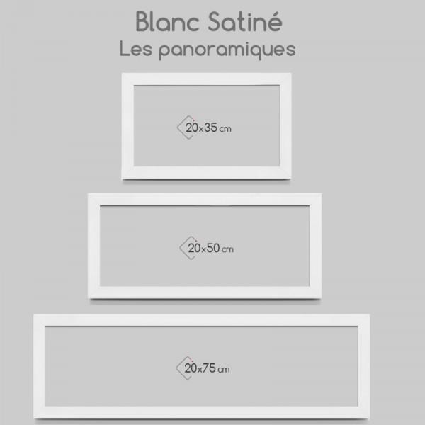 Cadre photo blanc satin plat for Cadres photo box ikea
