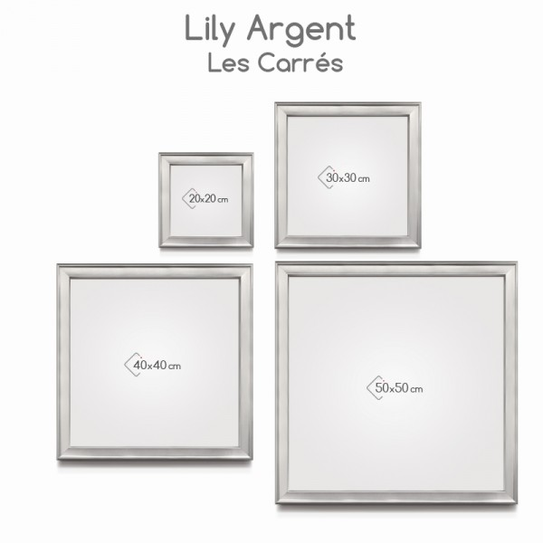 Cadre lily argent cosygallery - Cadre photo 50x50 ...