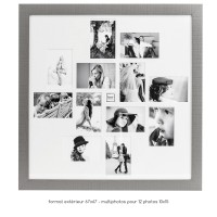 PELE MELE Palette Grise - CADRE 12 PHOTOS 10X15 67x67