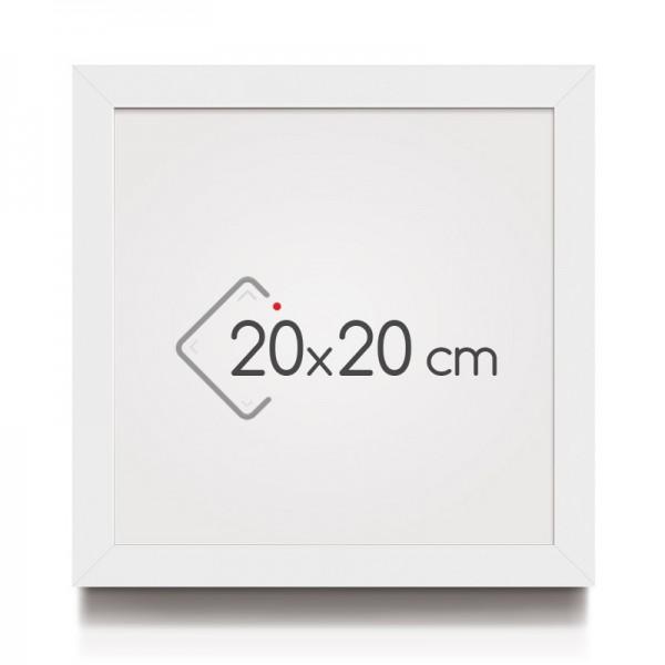cadre photo blanc satin