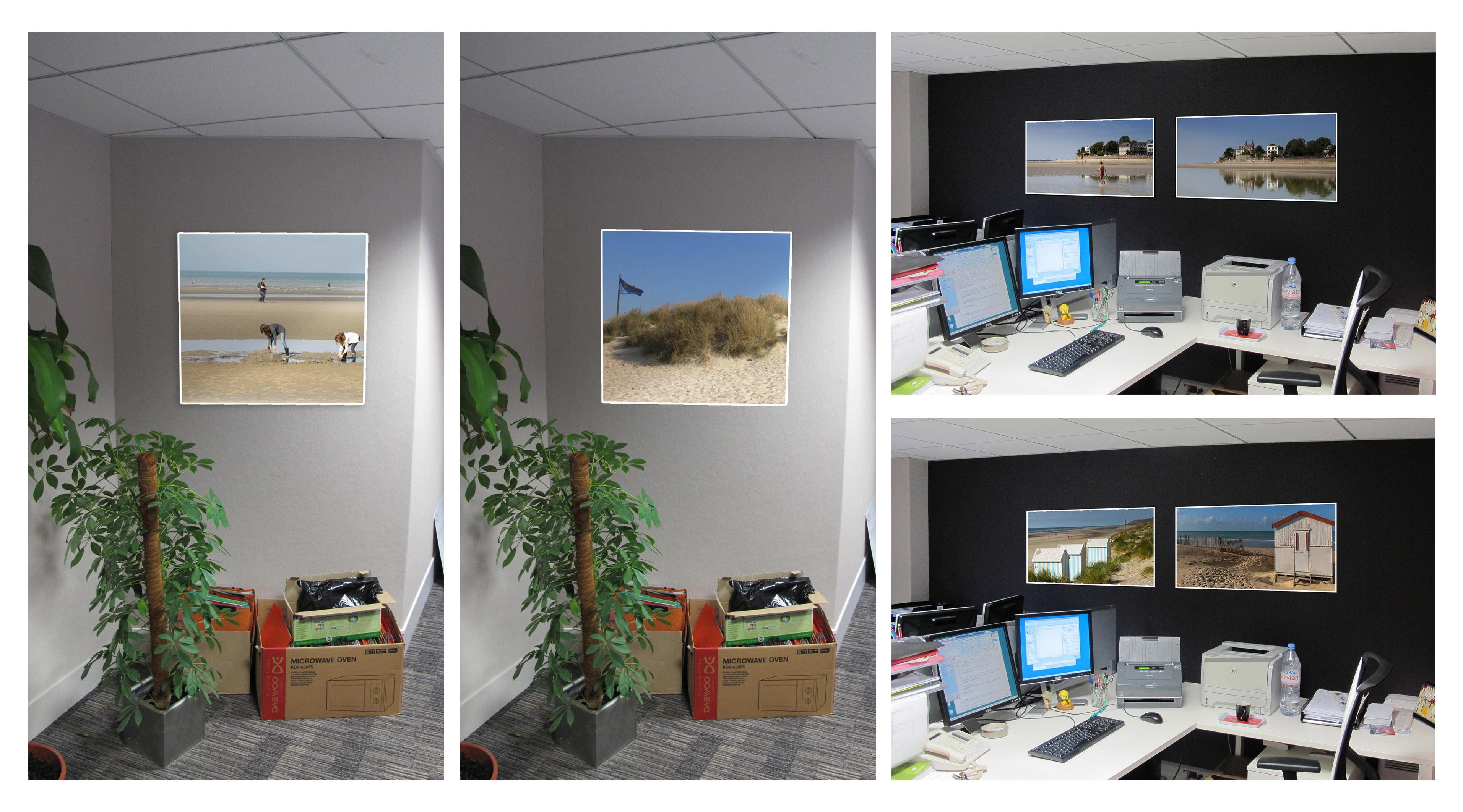 Simulations bureaux déco murale sur mesure