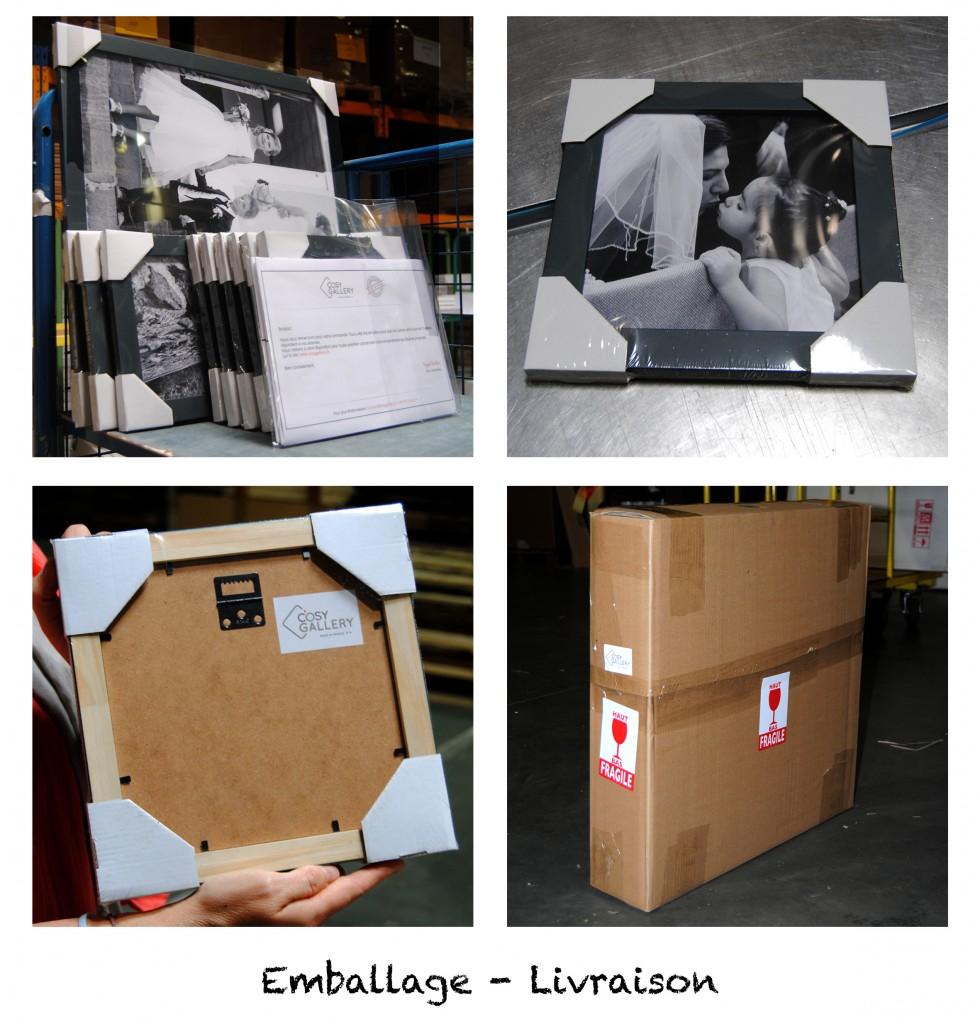 Emballage - Livraison des cadres