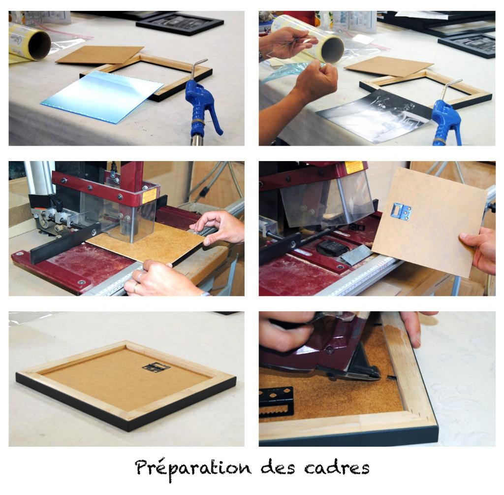 Préparation des cadres - Fabrication de nos cadres CosyGallery